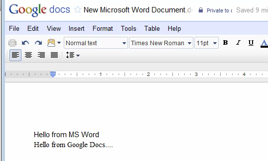 Word to Google Docs Sync