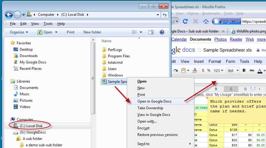 syncdocs offline google spreadsheet