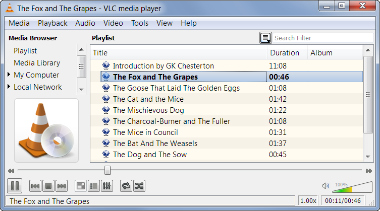 VLC Media Player Playlist
