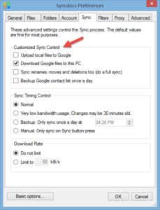 Google Drive one way sync